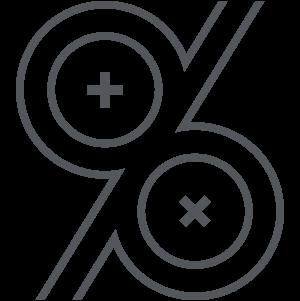 96andX Logo